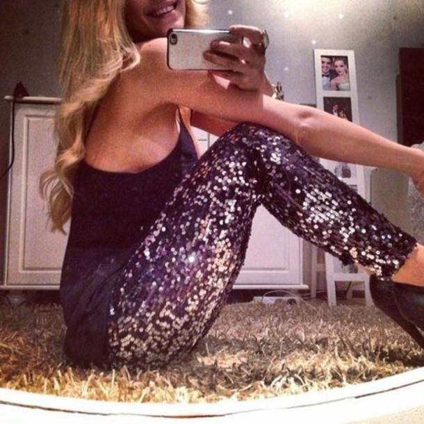 pants sequins clothes sequin leggings sparkly leggings leggings cute leggings sparkle