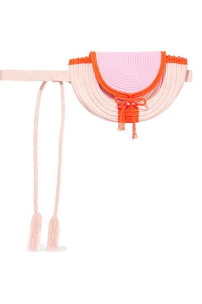 Sophie Anderson - Cara Woven Belt Bag - Blush
