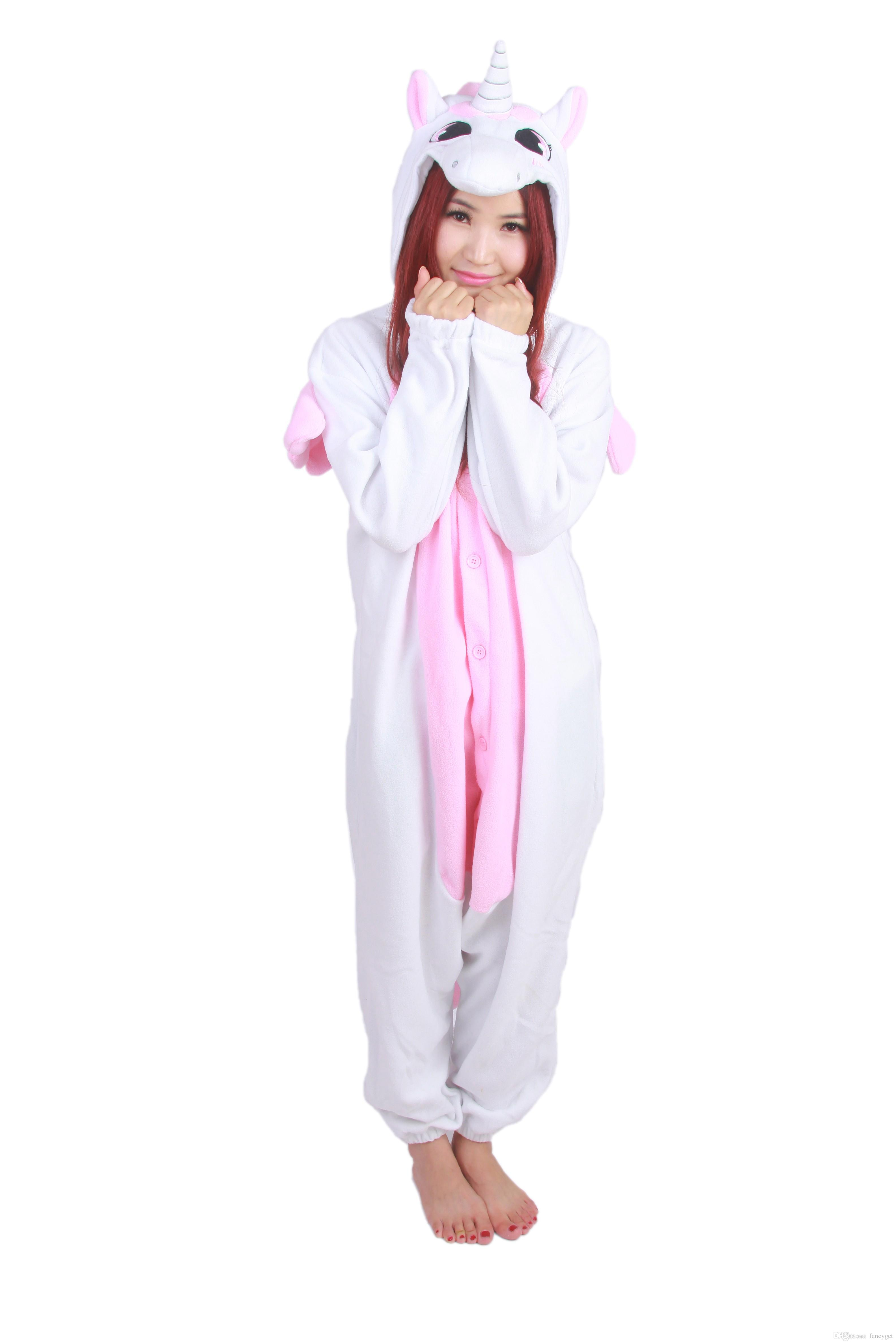 Buy hot! unisex couples cute cow fleece animal sleepwear cosplay one piece pajamas for autum winter s m l xl size, $52.36