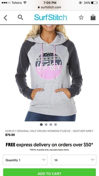 sweater purple hurley hoodie jumpers hood s