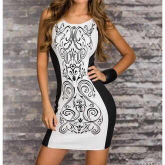 dress black and white white back floral printed dress patchwork slim bodycon mini mini dress lady lady dress sexy dress sexy sleeveless sleeveless dress casual casual dress skirt casual skirt fashion best outfit summer party dress