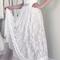 Sweetheart sleeveless long white wedding dress with lace wd053
