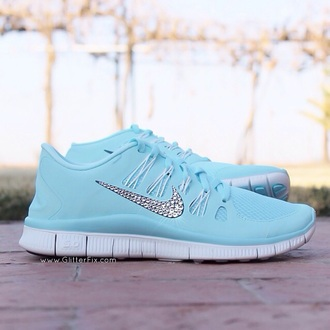 shoes tiffany tiffany blue blue green mint cute crystals diamonties nike