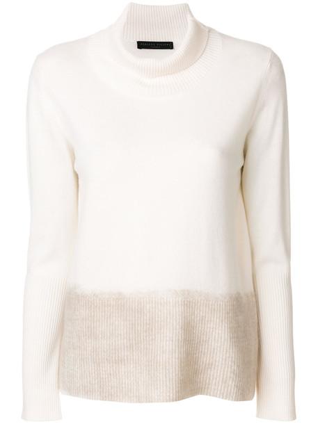 Fabiana Filippi sweater turtleneck turtleneck sweater women nude