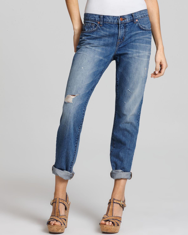Aidan slouchy boyfriend jeans in gemini wash