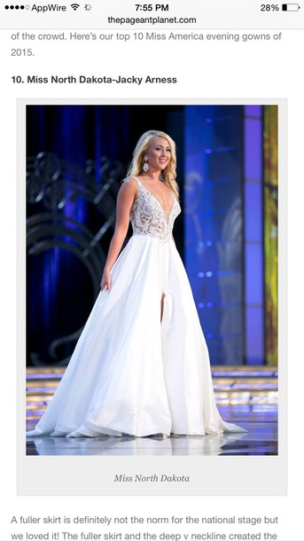 dress miss america white dress prom dress