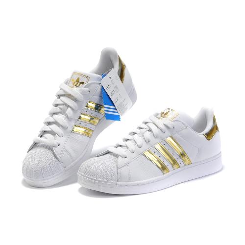adidas superstar gold stripe women's shoes