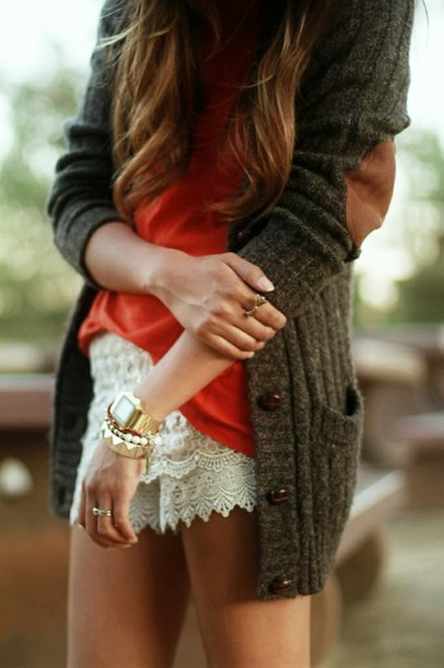 sweater cardigan clothes jacket grey sweatshirt oversized cardigan cute shorts cute sweaters elbow patch spring fashion cute outfit
