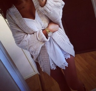 cardigan tan cardigan sweater comfy jumper knitted cardigan cosy sweaters cosy warm