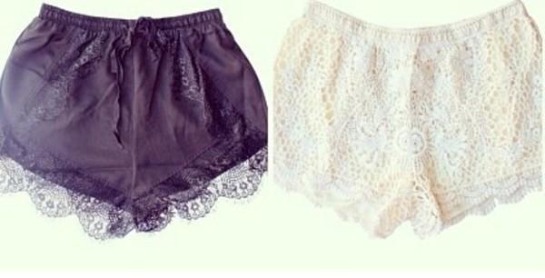 shorts black white cute shorts