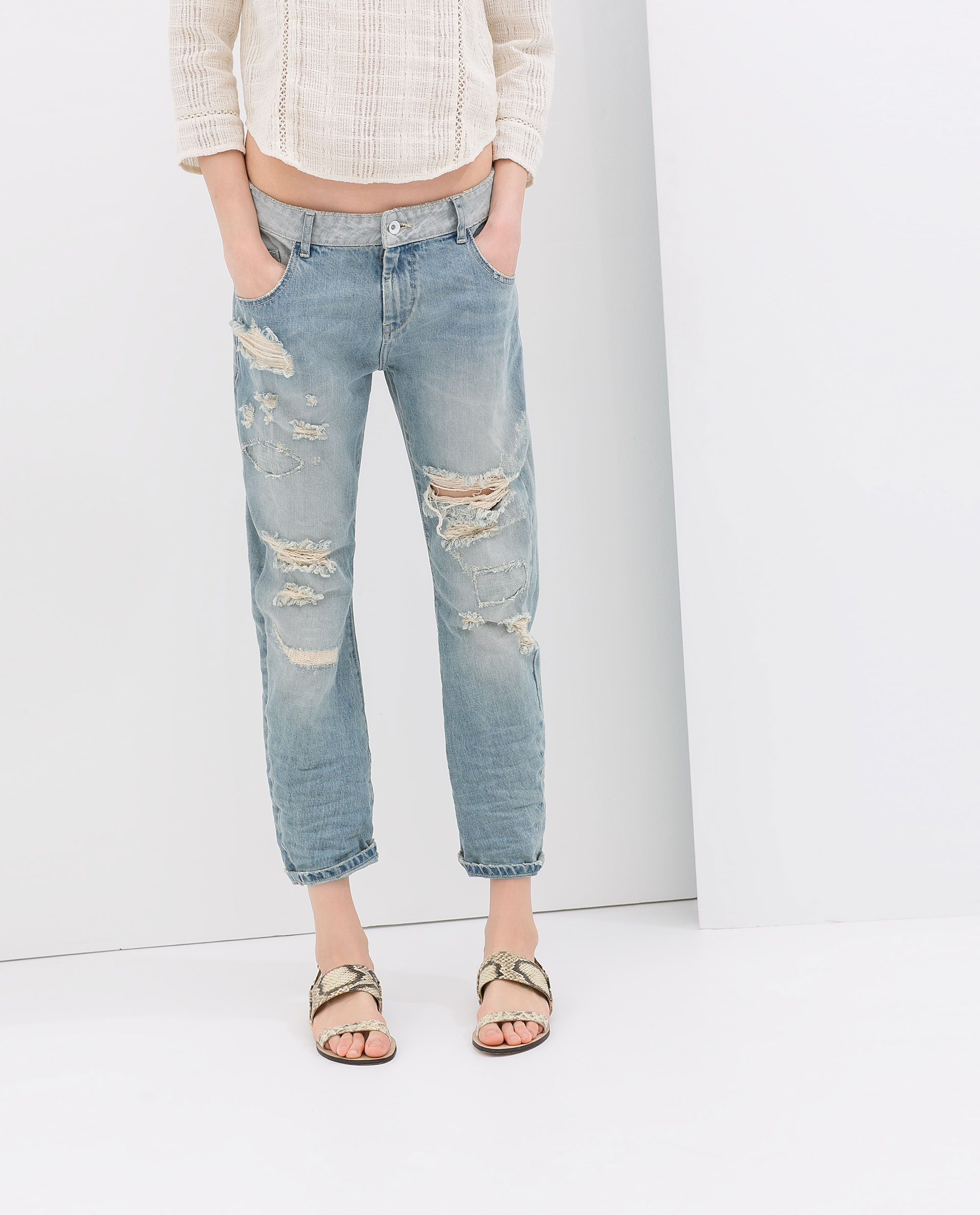 BOYFRIEND JEANS - Jeans - WOMAN - SALE | ZARA Czech Republic