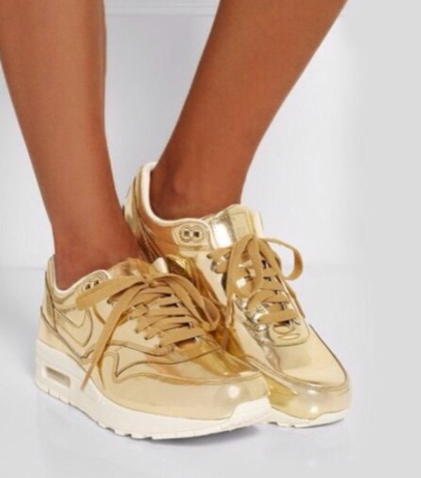 shoes nike air gold