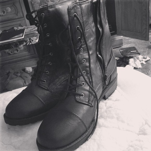 boots combat boots shoes black combat boots