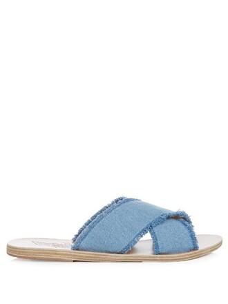 denim sandals light shoes