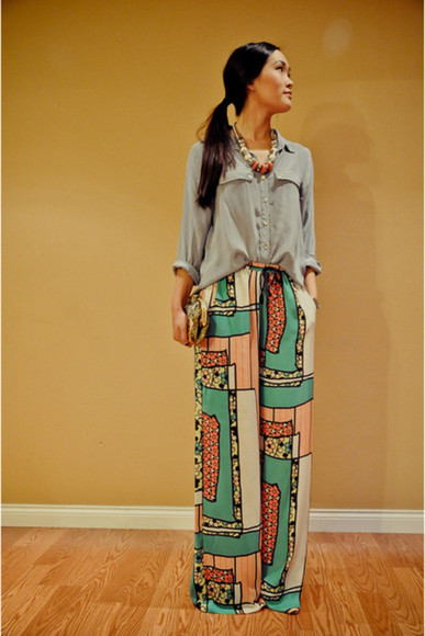 pants highwaisted shorts printed pants loose pants loose fit pants