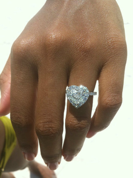 Big heart diamond ring