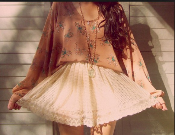 vintage summer outfits fashion style jewels blouse cute skirt