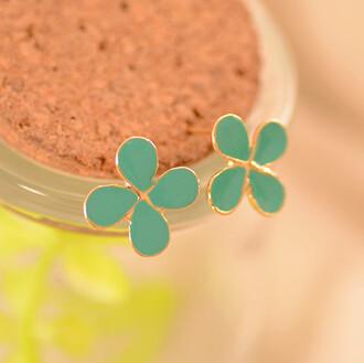 leaf clover earrings jewels