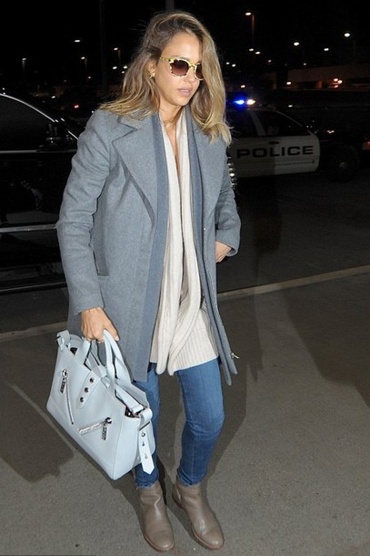 cardigan sweater jessica alba coat