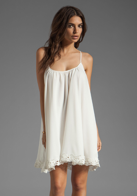 LOVERS   FRIENDS Sunshine Dress in White with Lace at Revolve Clothing - Free Shipping!