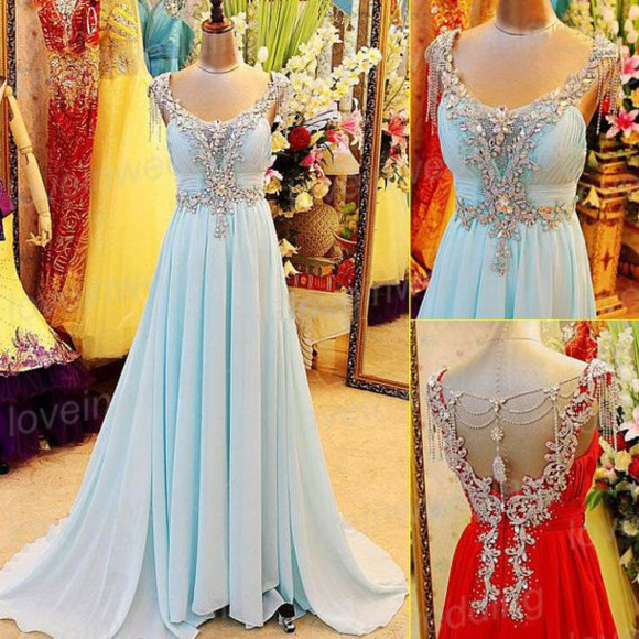 crystal prom dress long prom dress