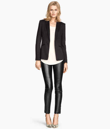 H&m imitation leather pants $34.95