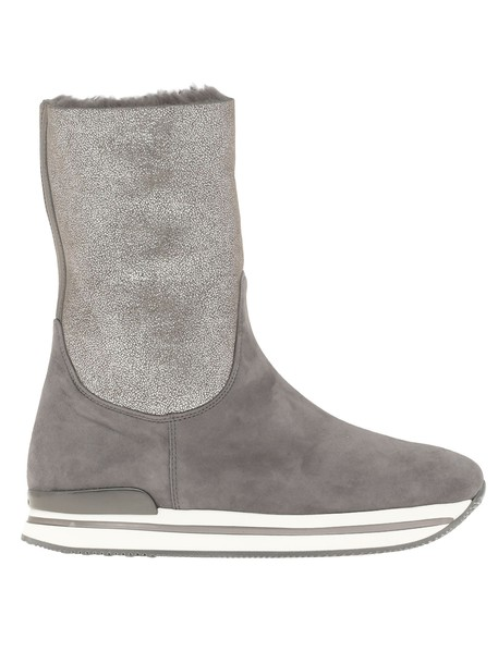 Hogan H222 Leather Boot in grey