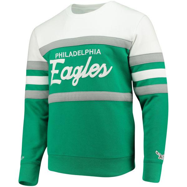 Philadelphia Green amp; Head Coach Eagles Mitchell Midnight Sweater Ness Crew Men's