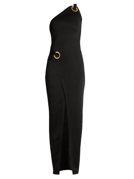 Balmain gown knit black dress