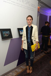 jeans,olivia palermo,coat,shoes