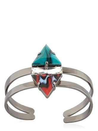 cuff cuff bracelet green brown jewels