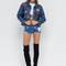 Patched up distressed denim jacket blue - gojane.com
