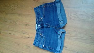 women's aeropostale dark wash denim shorts size 00
