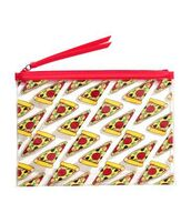 bag,purse,wallet,alternative,grunge,hipster,tumblr,tumblr outfit,pizza,red,transparent,pizza slices,zip,makeup bag