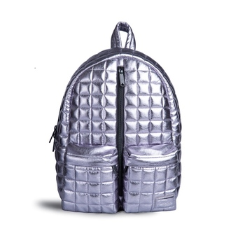 bag fusion clothing backpack silver quilted quilted backpack silver quilted backpack grey shiny women accessories rucksack silver backpack qulted backpack printed backpack printed bag silver bag