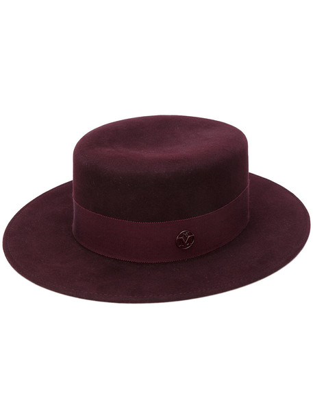hat felt hat purple pink