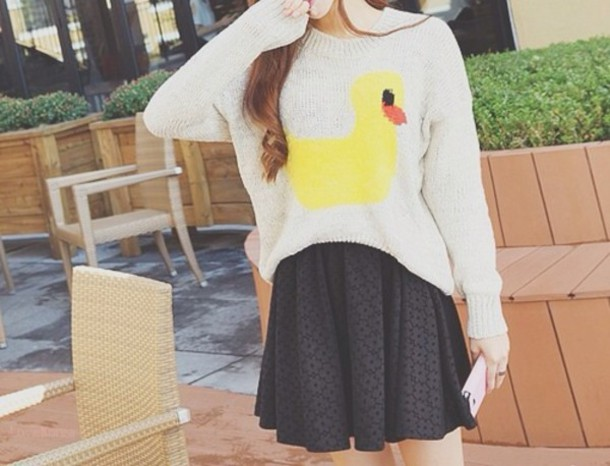 sweater skirt duck