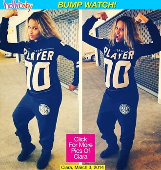 ciara players shirt number tee number black and white maternity strong sweater