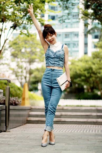 blogger t-shirt bag mochaccinoland jeans