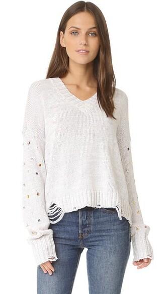 sweater sparkle white