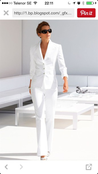 dress white suit women