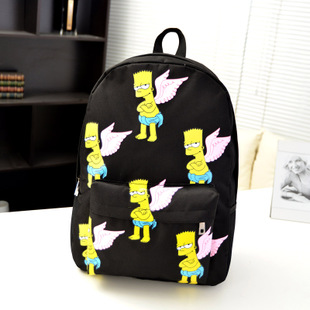 Simpson HARAJUKU joyrich girl BOY WOMEN casual backpack school bag backpacks BLACK BLUE PINK COLOR FREE SHIPPING-inBackpacks from Luggage & Bags on Aliexpress.com