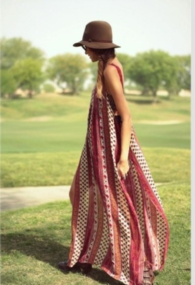 dress bohemian boho summer summer dress spring perfect combination sweet