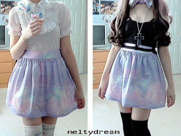 skirt pastel pastel goth emo goth cool