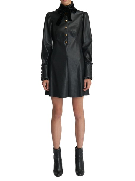 Philosophy di Lorenzo Serafini dress leather dress black leather dress leather black black leather