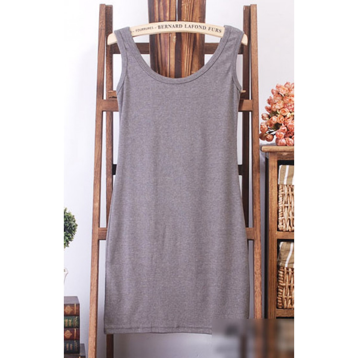 Basic Tank Dress (Dark-Grey)