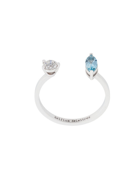 Delfina Delettrez diamond ring women ring gold blue jewels