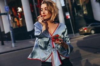 blouse matchesfasion streetstyle blogger silk classy sies marjan