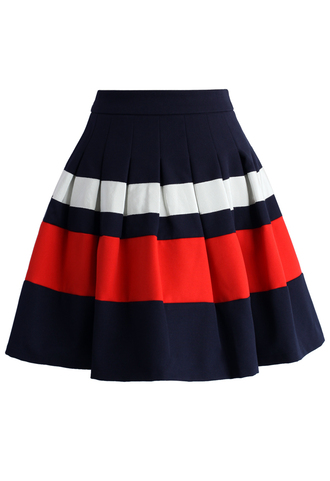 skirt amiable striped pleated skirt chicwish pleated skirt amiable skirt