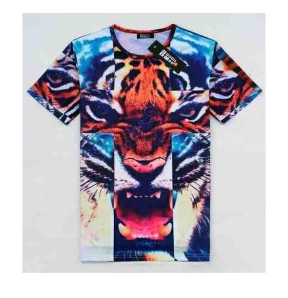 t-shirt trendy tiger print tiger shirt dope shirt